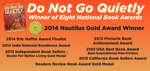 Do Not go Quietly Book Awards